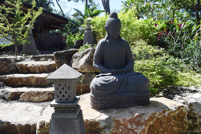 A statue at the Bodhi Tree purchased in Bali.