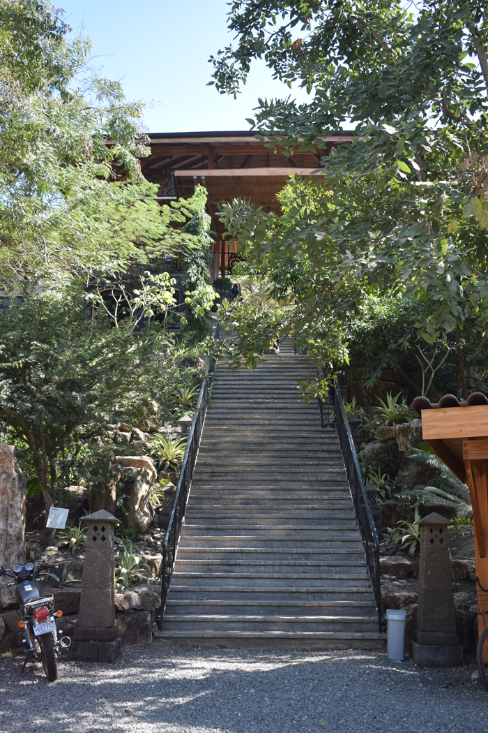 The stairs leading to the Bodhi Tree.