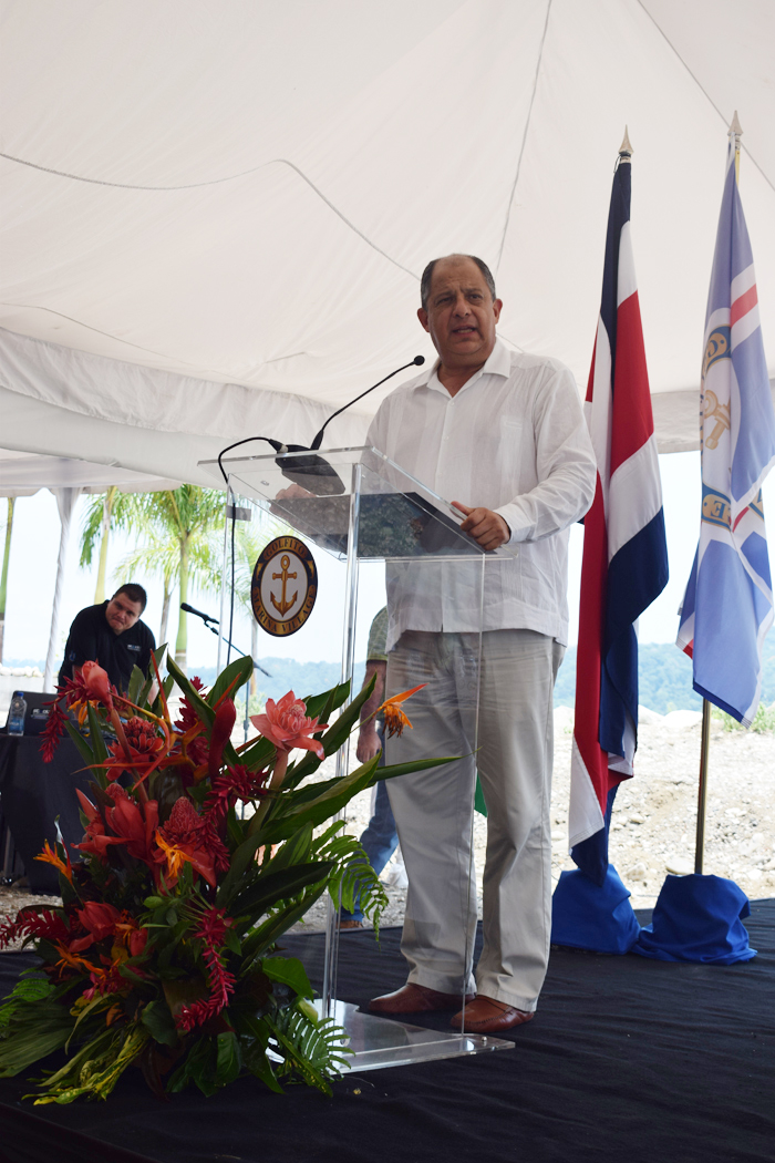 President Luis Guillermo Solís addresses the audience.