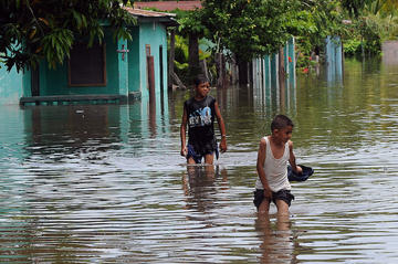 Flooding affects Honduras