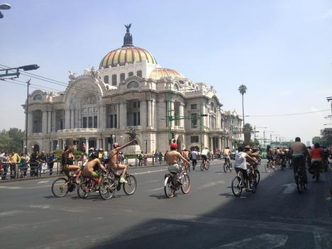 Naked Mexican cyclists