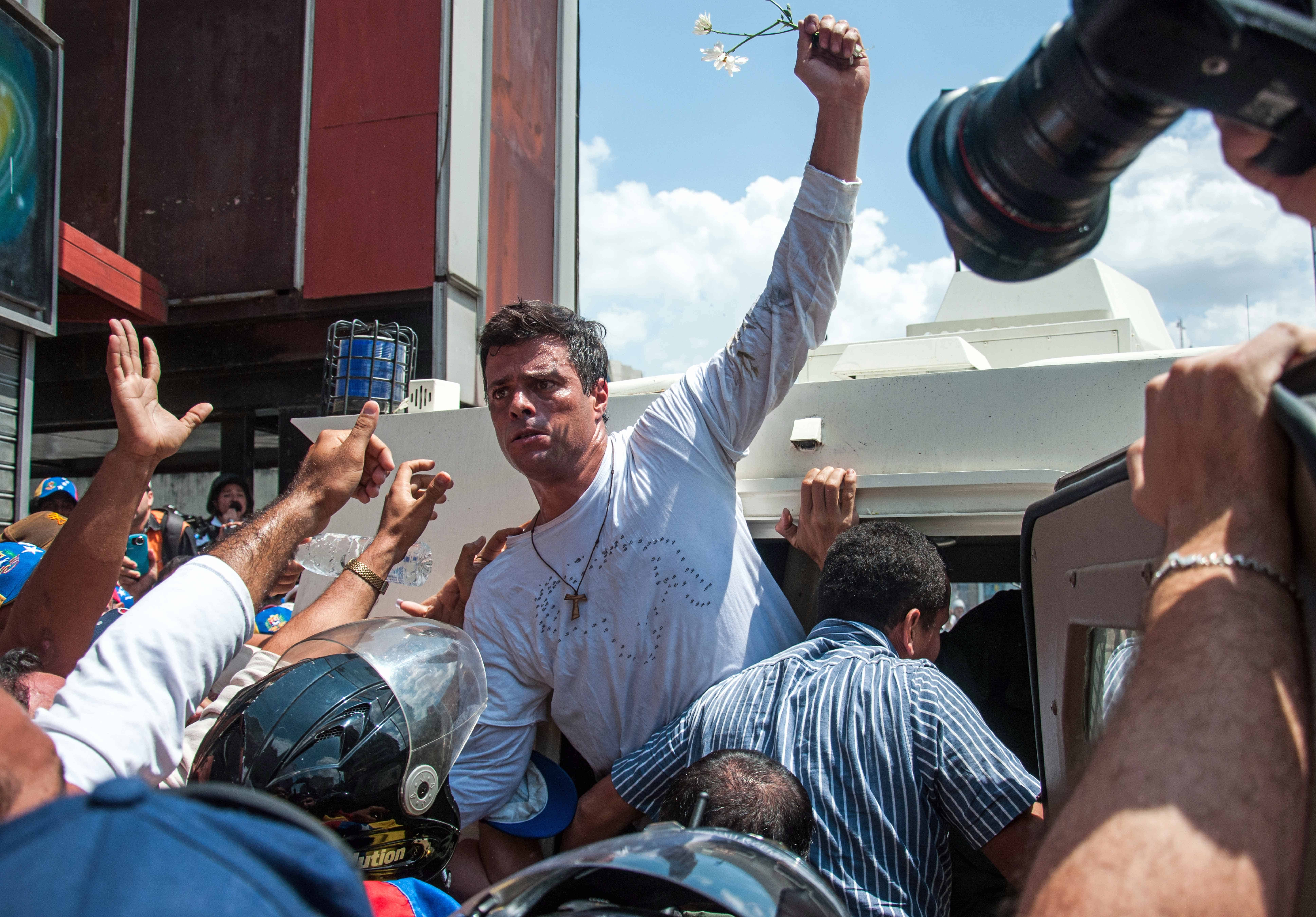Who is jailed Venezuelan opposition leader Leopoldo López?