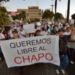 In Mexico, 2,000 protest for drug lord's release