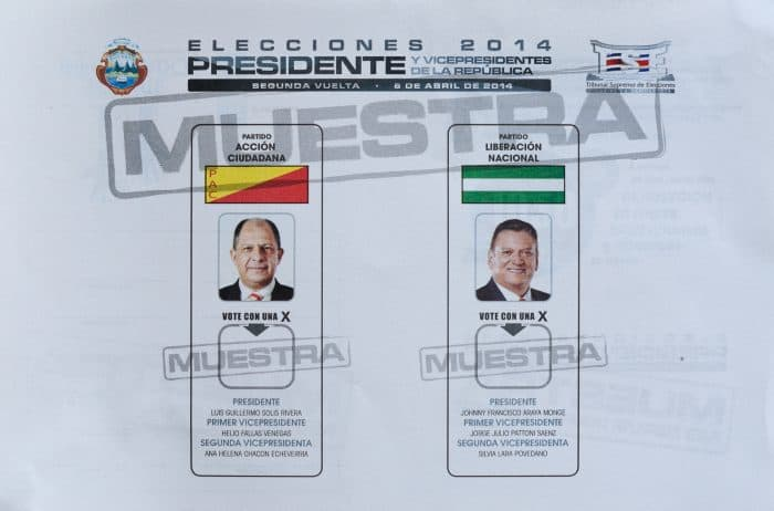 Presidential runoff ballot