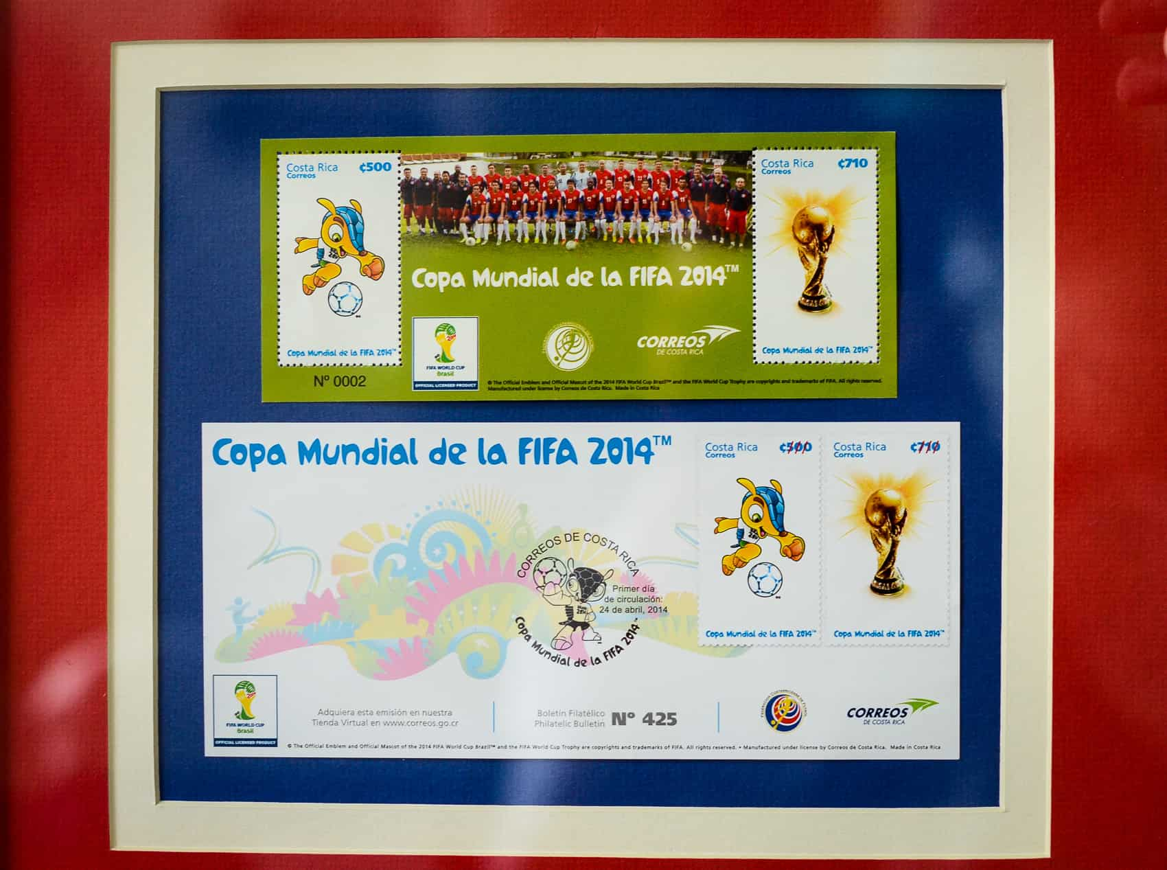 Brazil World Cup 2014 special edition stamps