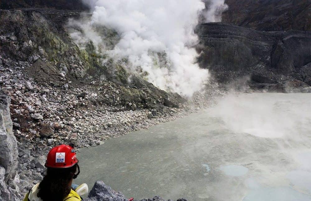 Hot Lagoon at Poás Volcano