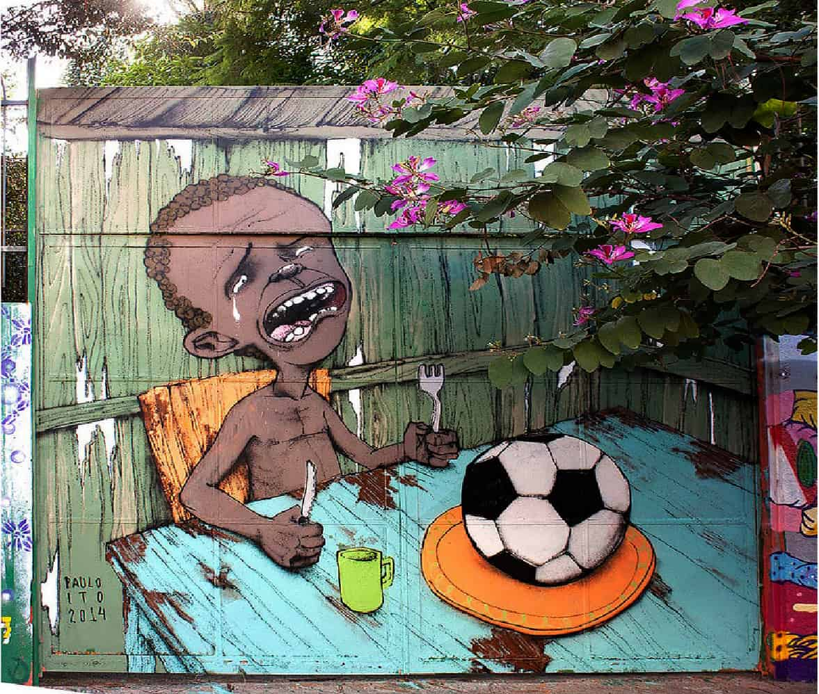 Paulo Ito's World Cup mural.