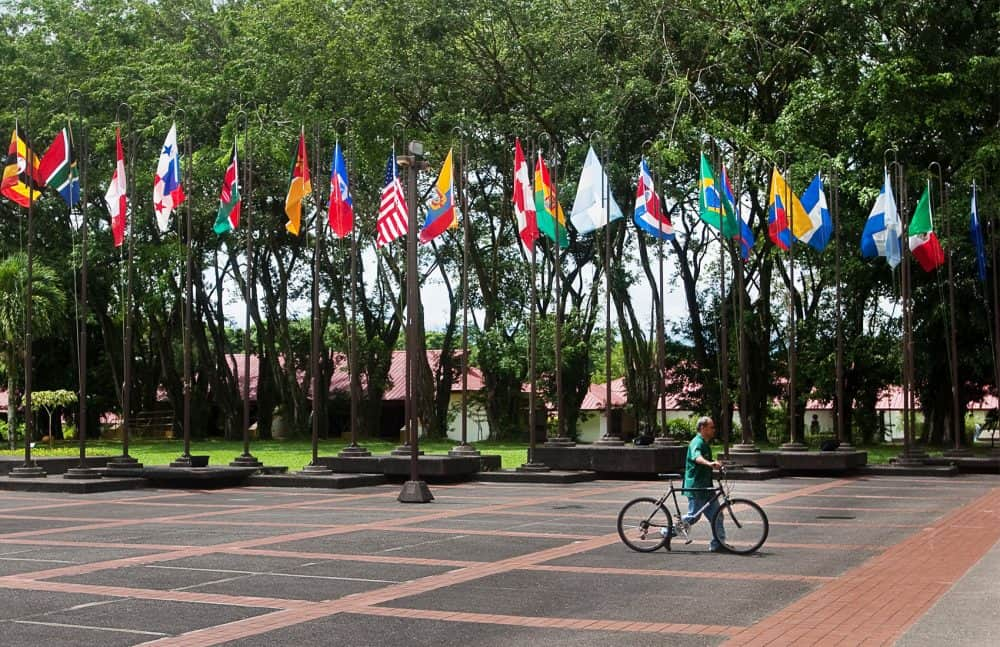 Earth University campus in Limón