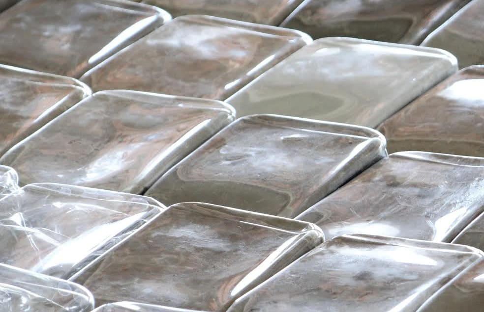 Roof Tiles Made From Agua Costa Rica Recycled Water Bottles. (Courtesy Agua  Costa Rica)