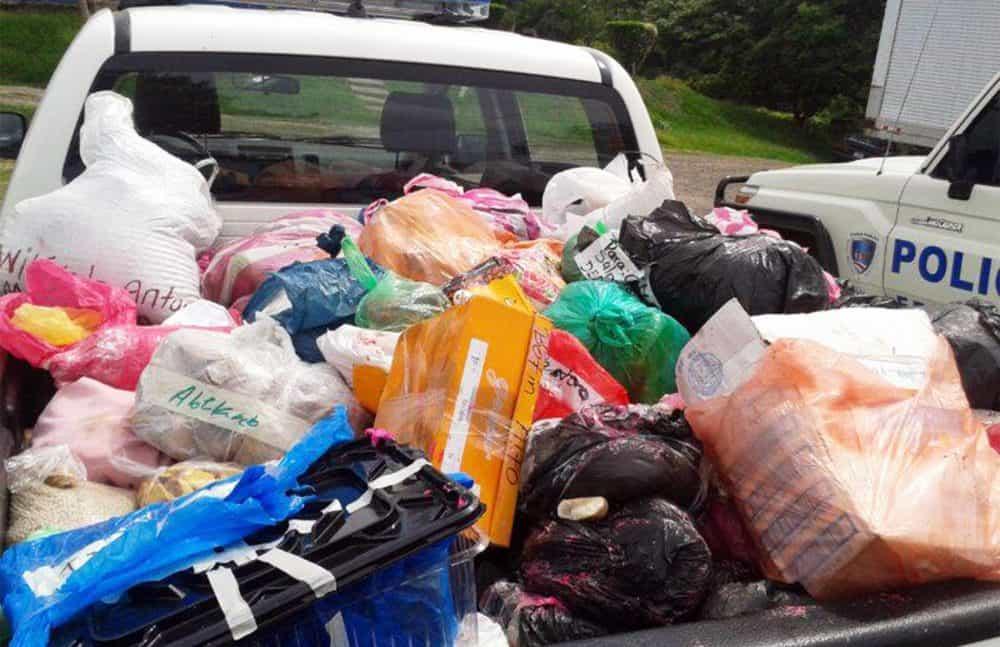 Seized merchandise at Nicaragua's border