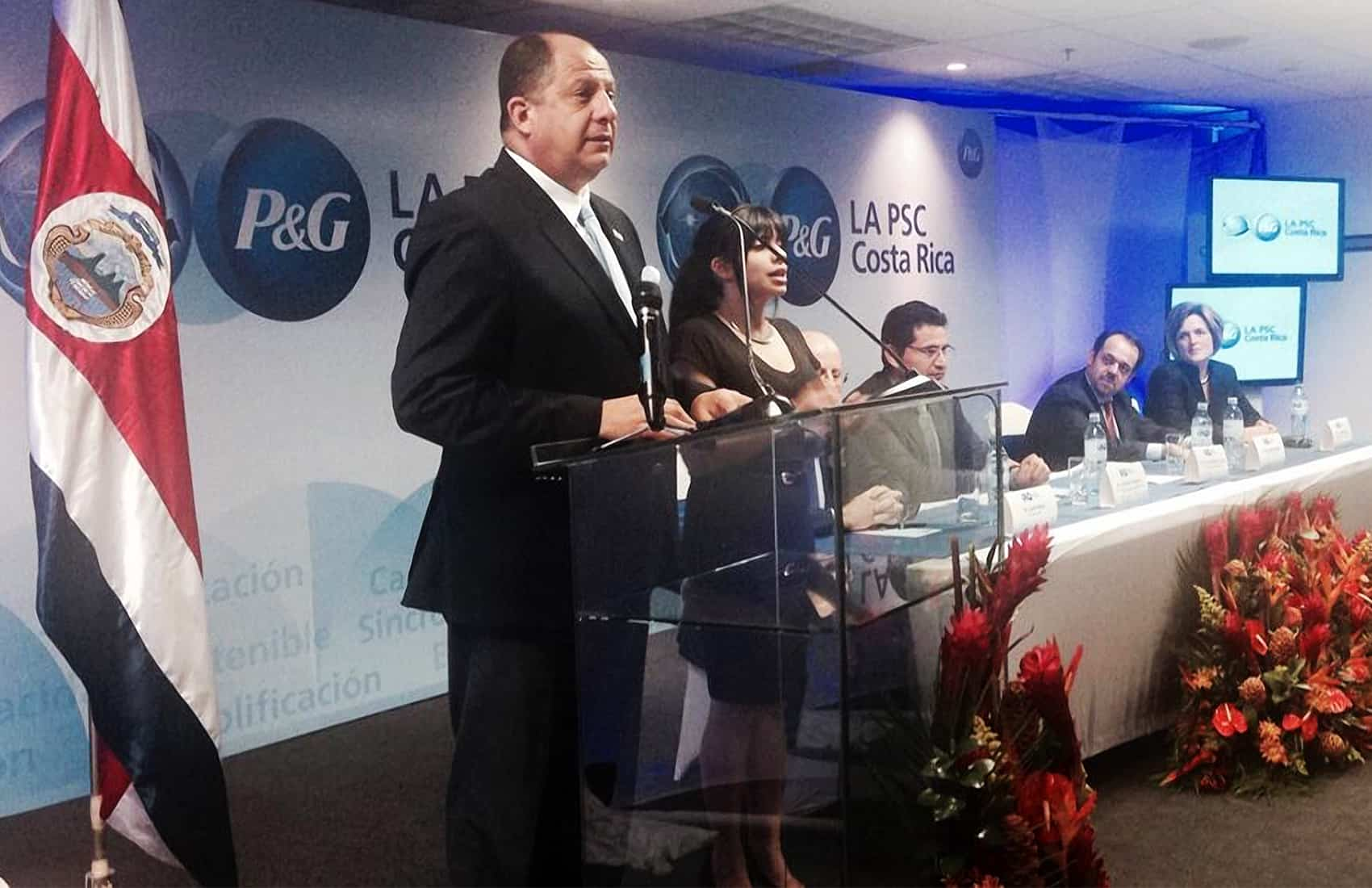 President Luis Guillermo Solís at P&G