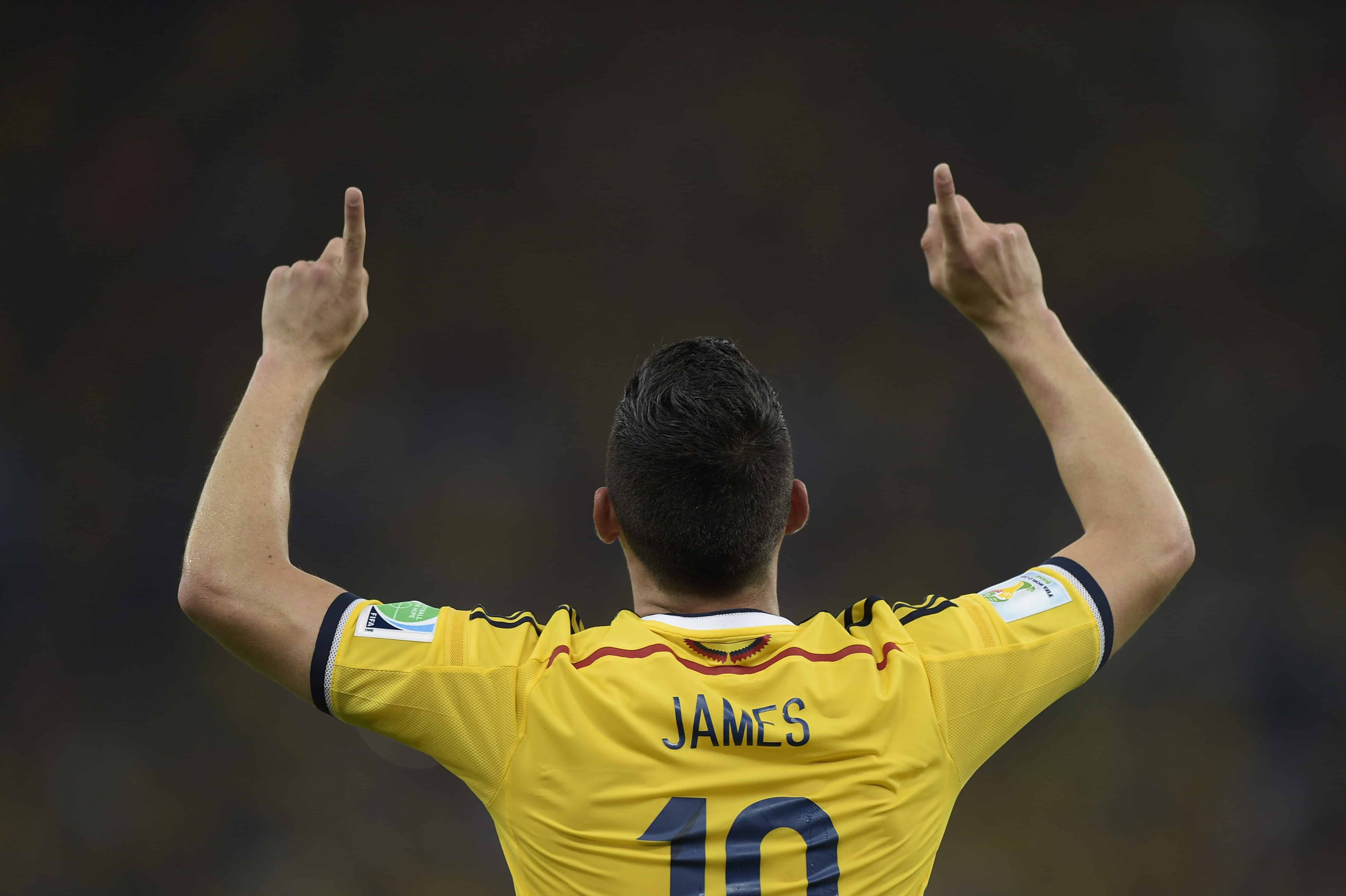 newest d5e06 d3523 Colombia Soccer Jersey 2018 James
