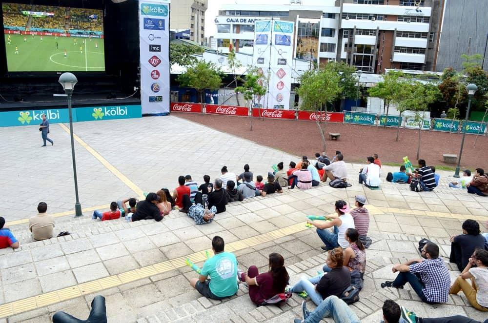 Fan zone in San José