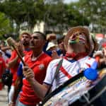 PHOTOS: Costa Ricans go wild celebrating World Cup upset over Uruguay