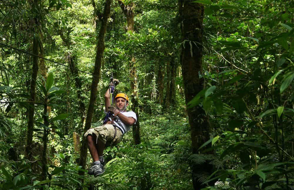 Ziplining at Monteverde