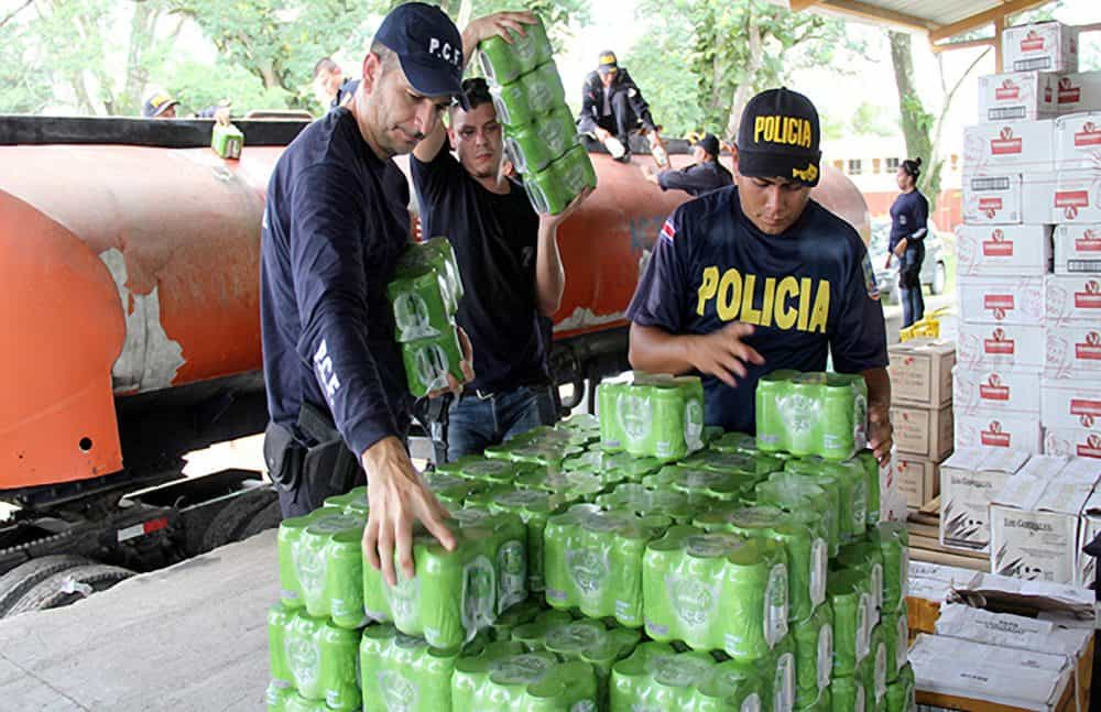 Confiscated beer and liquour