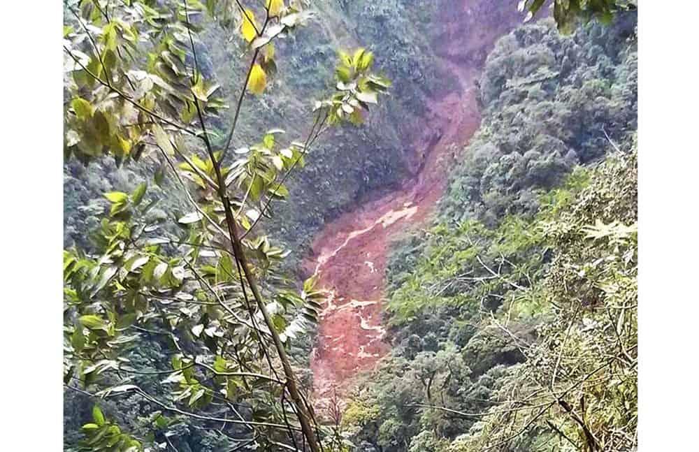 Mudslide at Sarapiquí