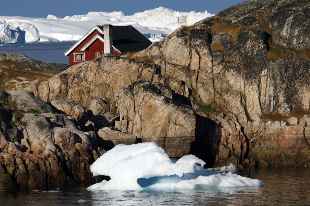 Greenland's melting glaciers.
