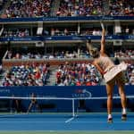 Wozniacki beats Sharapova to reach quarterfinals at US Open