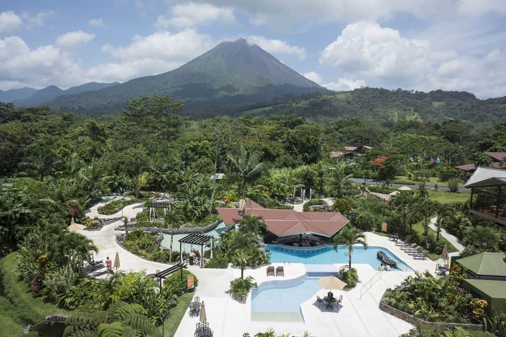 A sunny day at the Arenal Springs Hotel.