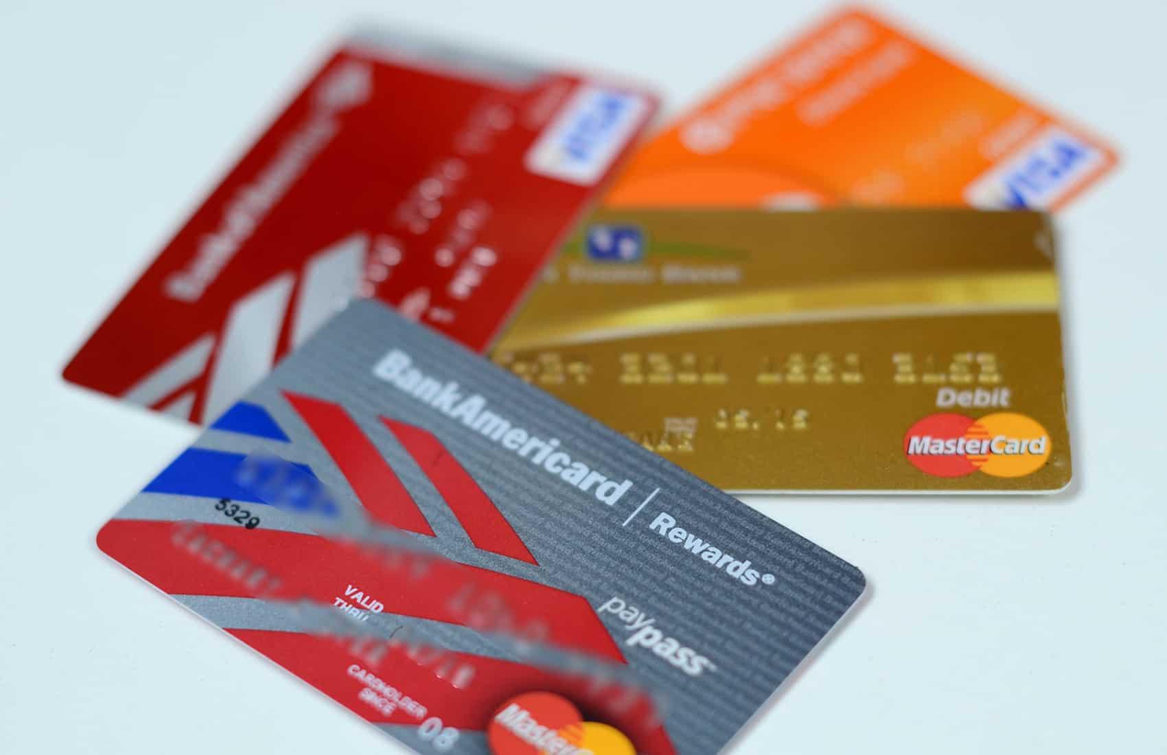 Credit, debit cards