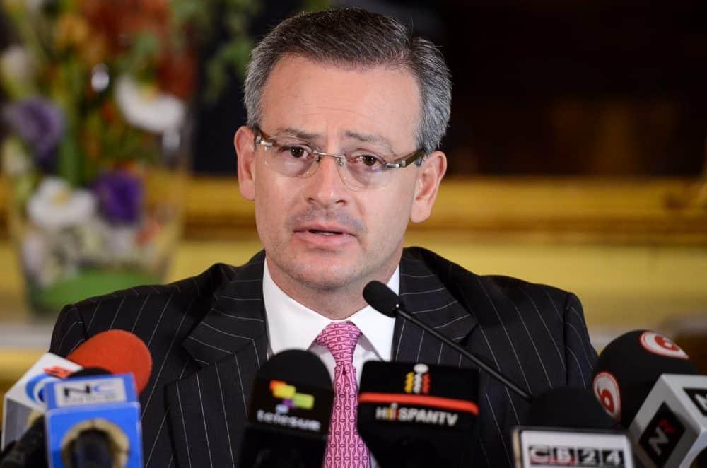 Cuban migrant crisis: Foreign Minister Manuel González.