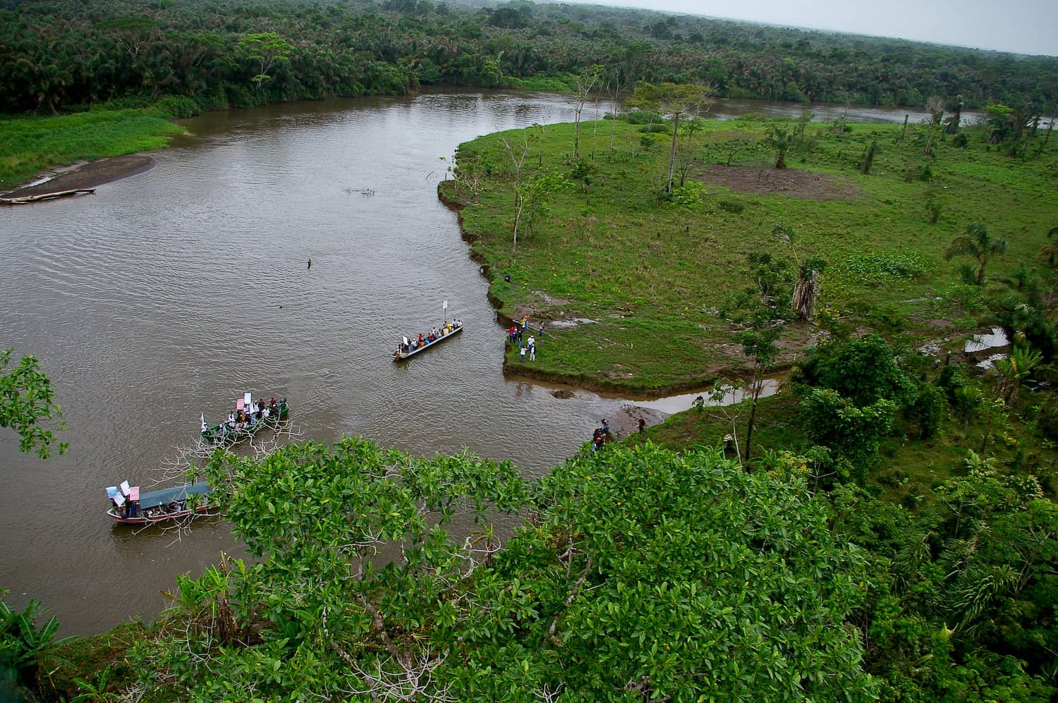 The San Juan River near the disputed Isla Calero wetland.