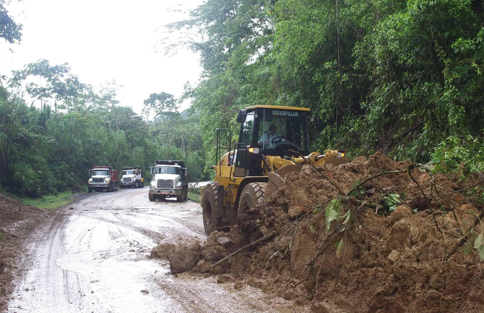 Landslides at Route 32