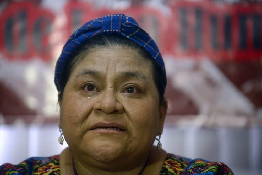 1992 Nobel Peace Prize laureate Rigoberta Menchú.