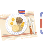 Google recognizes Costa Rica Independence Day with gallo pinto