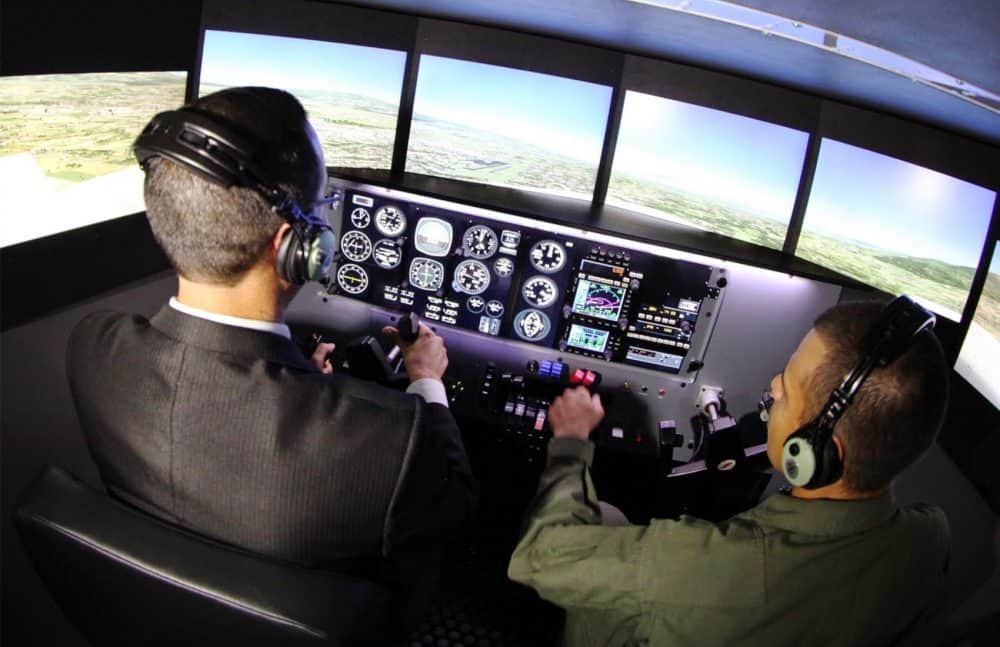 Flight simulator donated by the U.S.