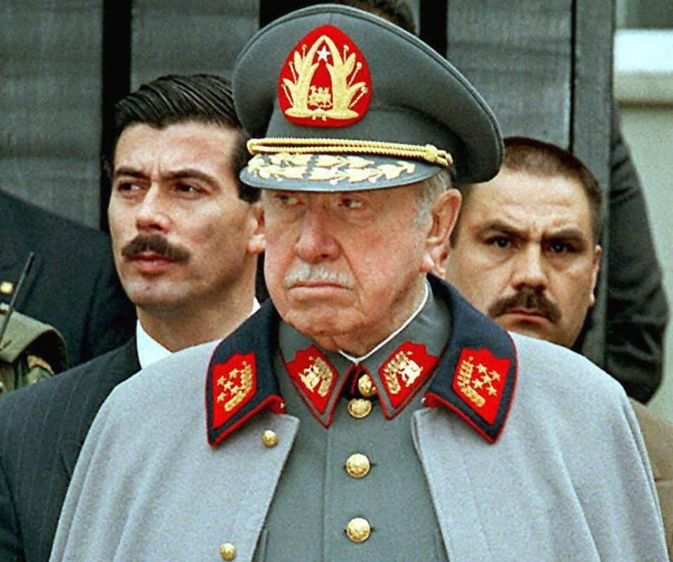 Chilean former dictator Augusto Pinochet. Pinochet died in 2006.