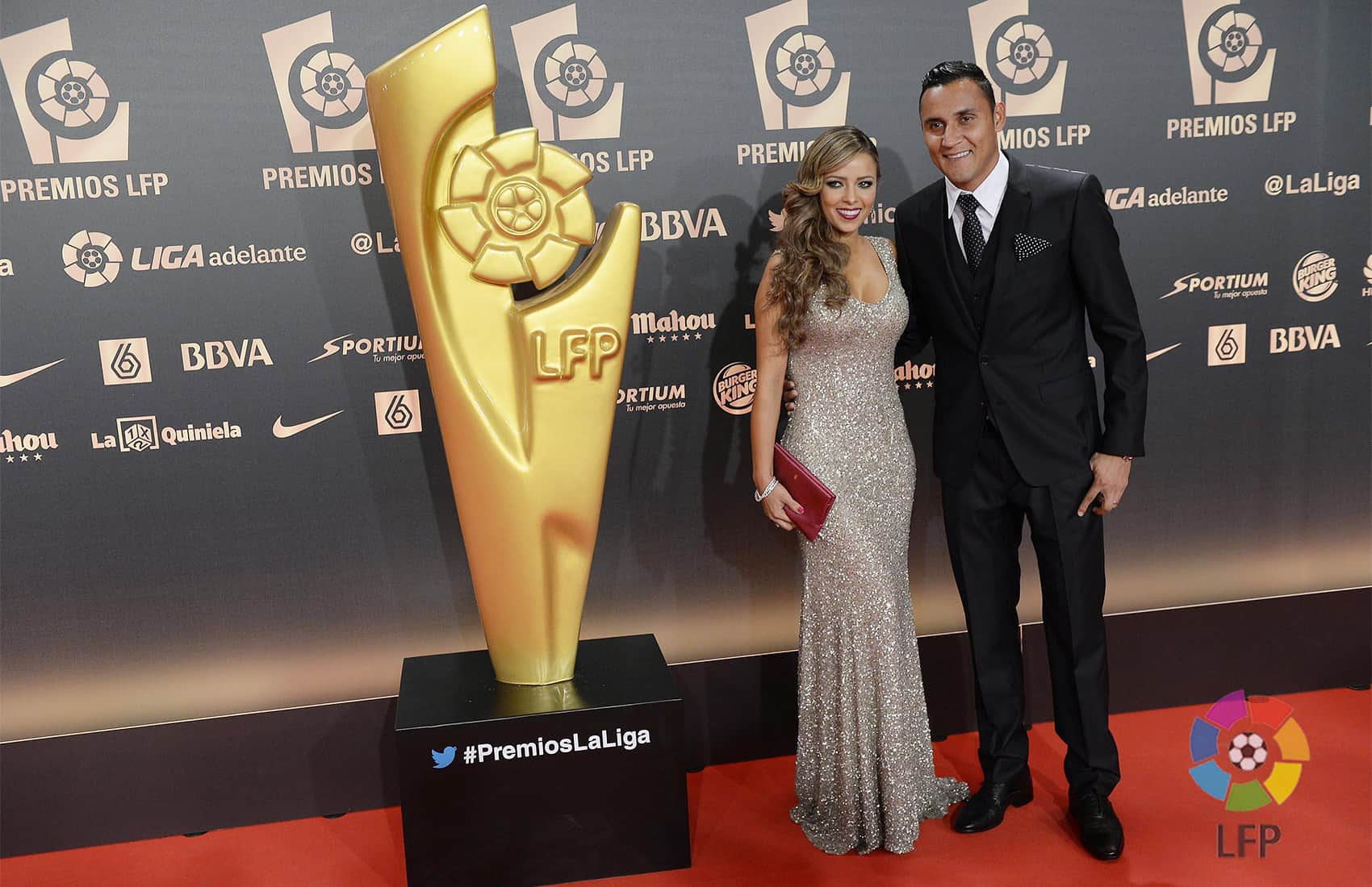 Keylor Navas and wife Andrea Salas
