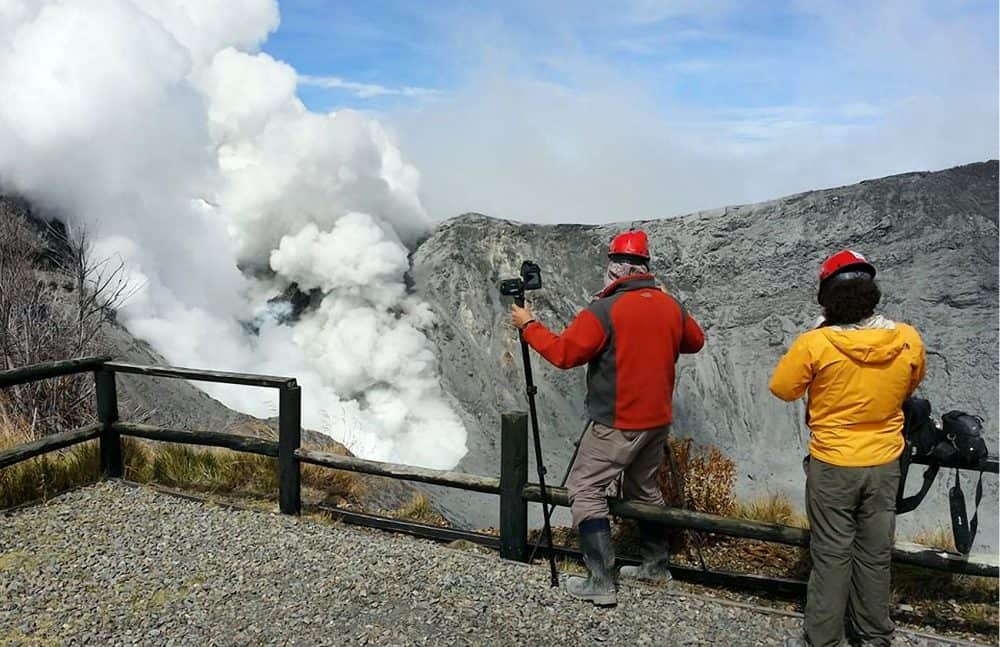 RSN Vulcanologists at Turrialba Volcano