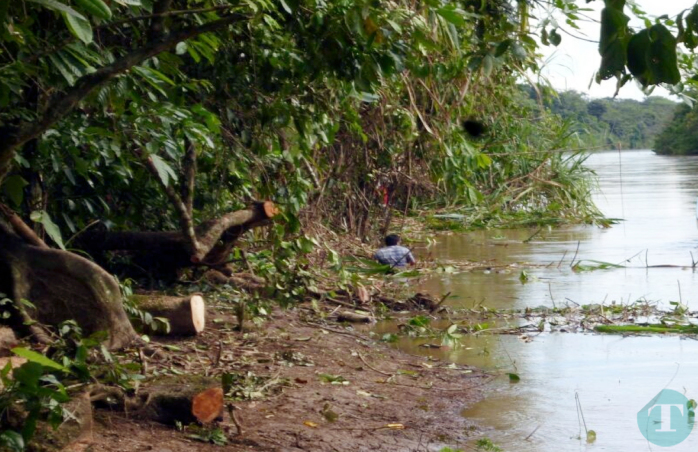 Nicaraguan workers inside Costa Rican territory