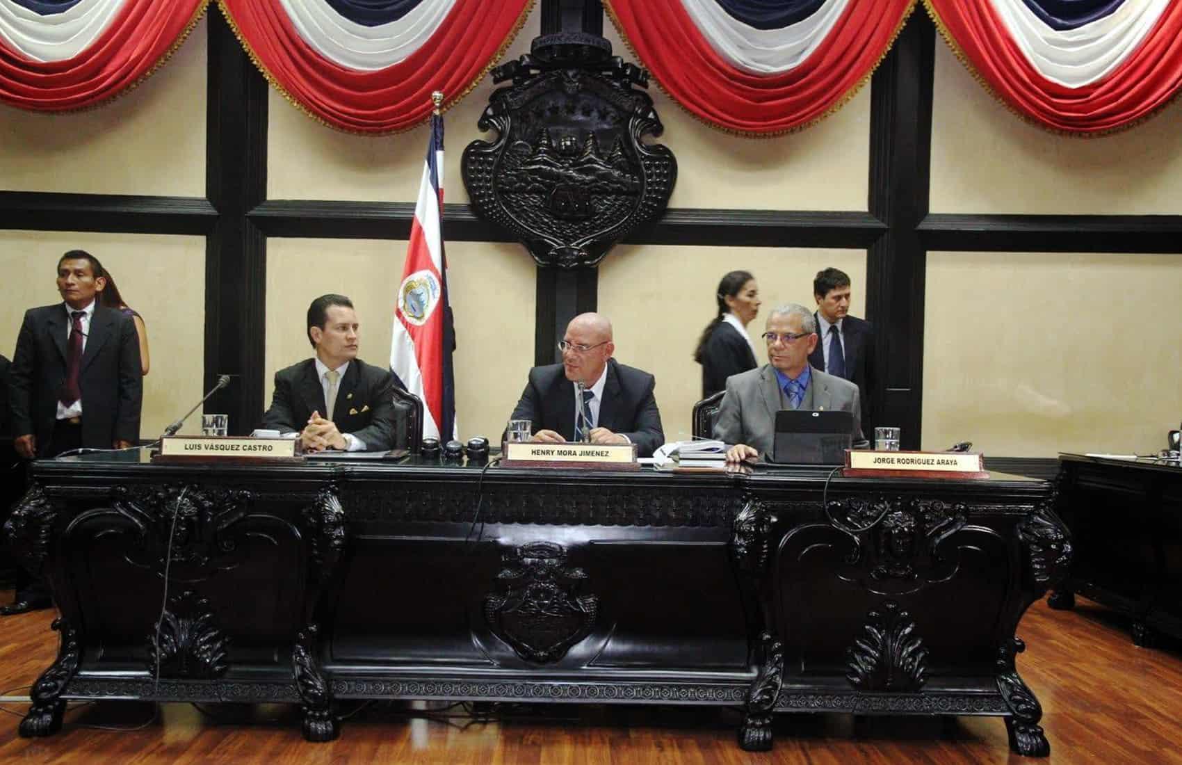 Legislative Assembly president Henry Mora
