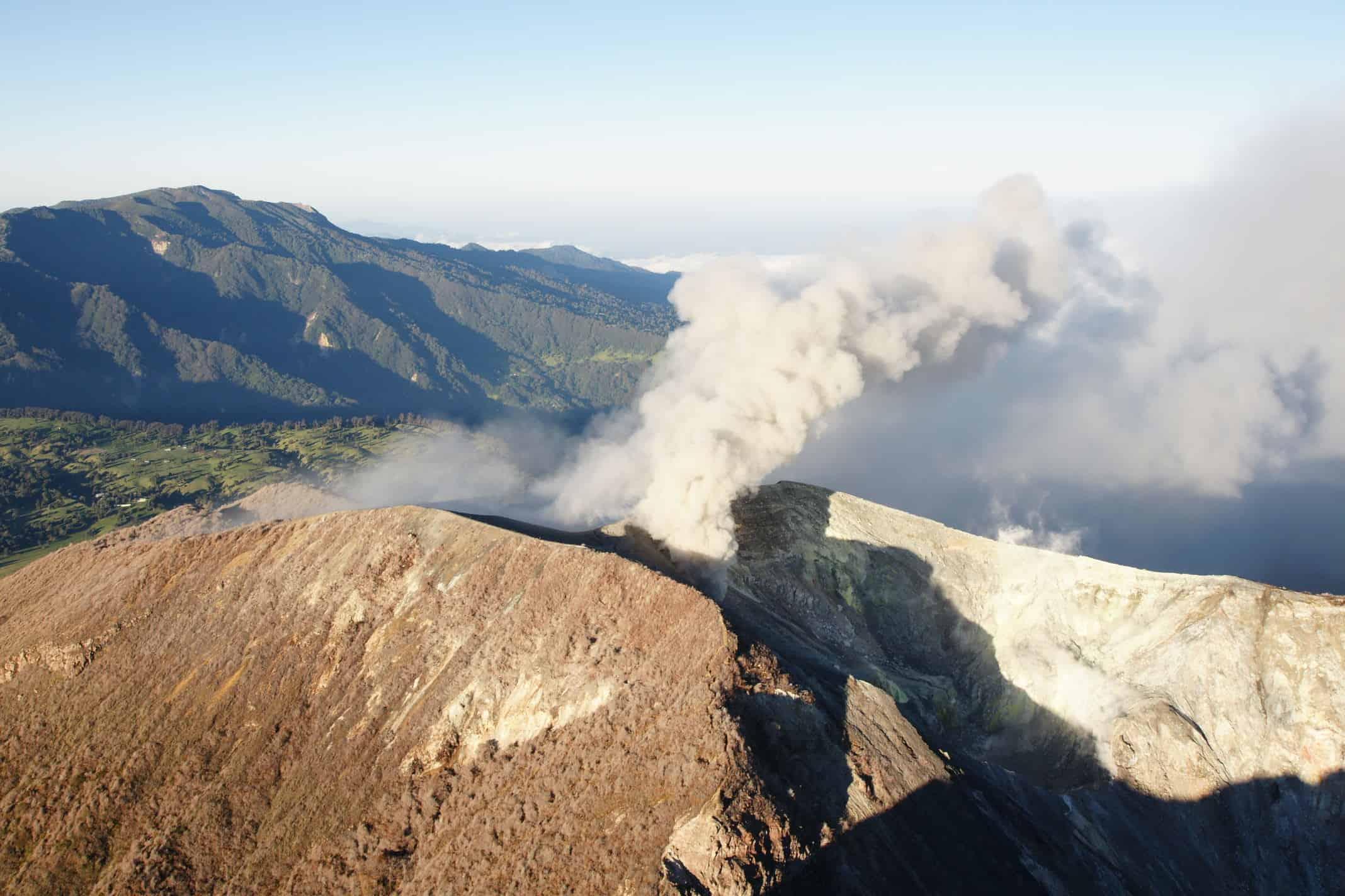 Costa Ricas Turrialba Volcano Located About 60 Kilometers Northeast Of The Capital Courtesy OVSICORI