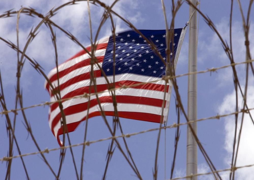 A U.S. flag at Guantanamo Bay.