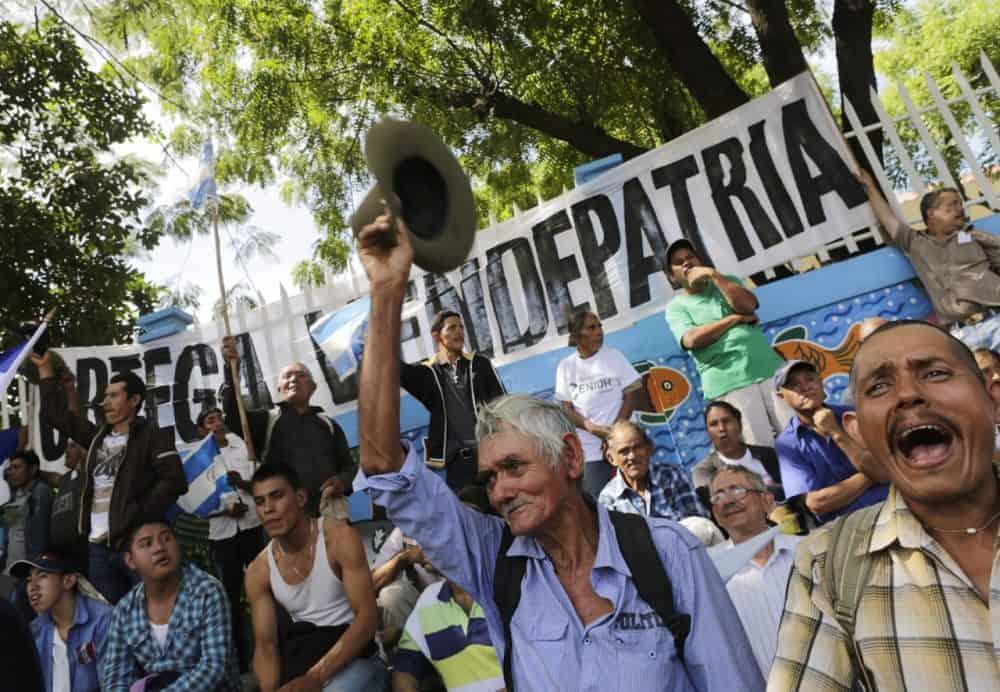 Demonstrators in Managua.