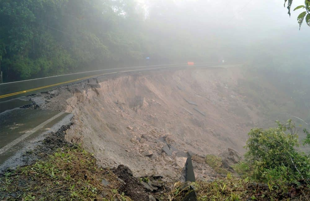 Landslide at Inter-American Highway South
