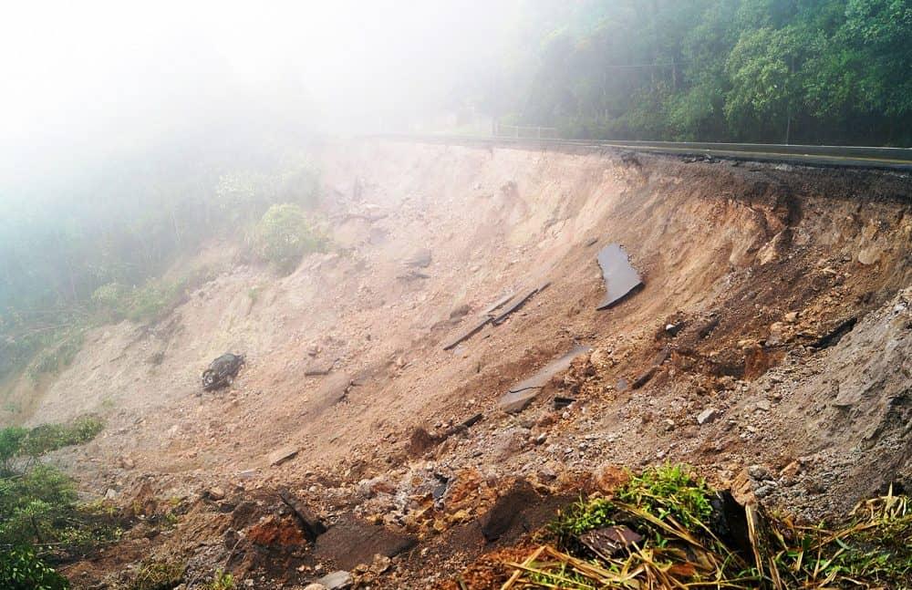 Landslide at Inter-American Highway South