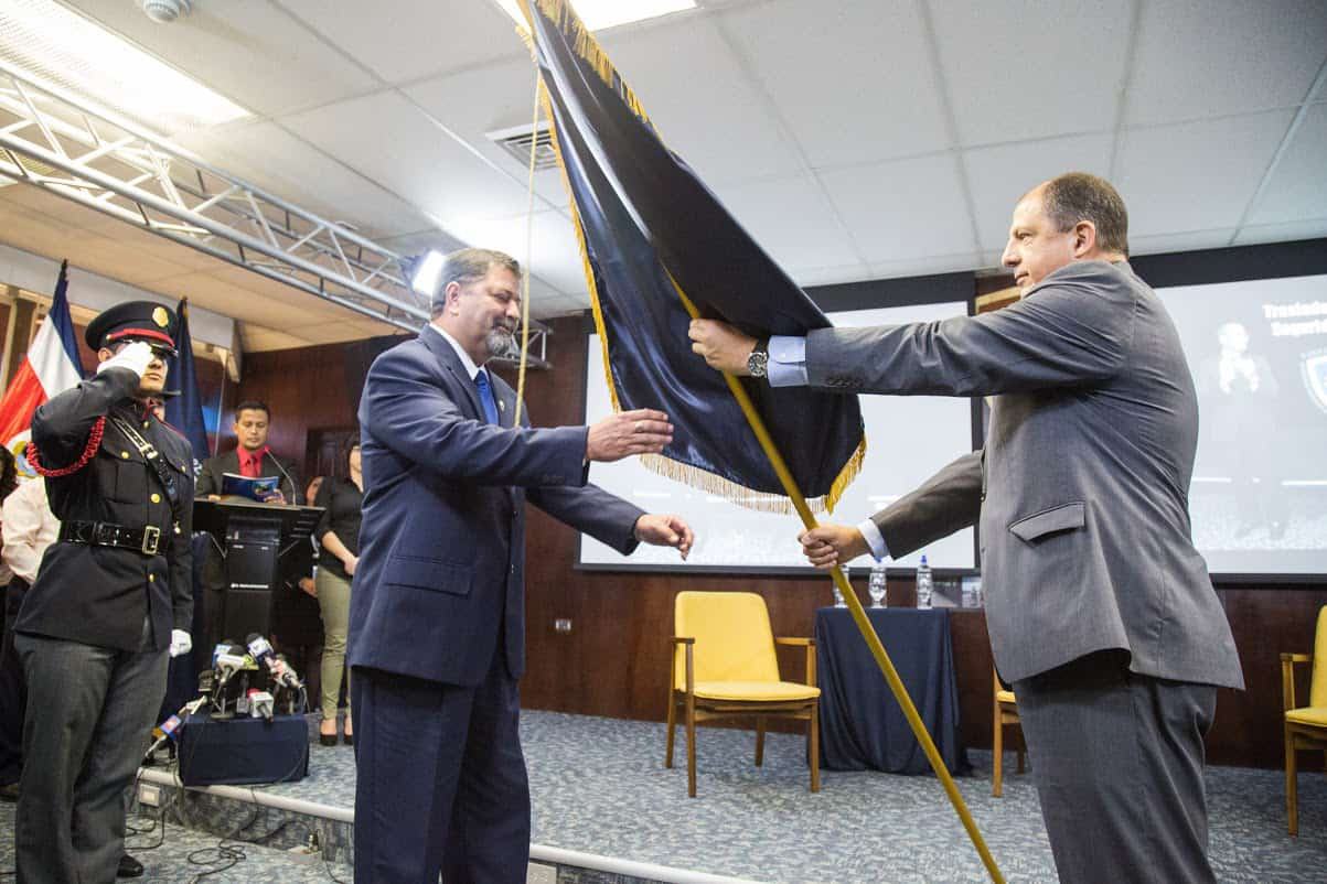 Gustavo Mata and Luis Guillermo Solís