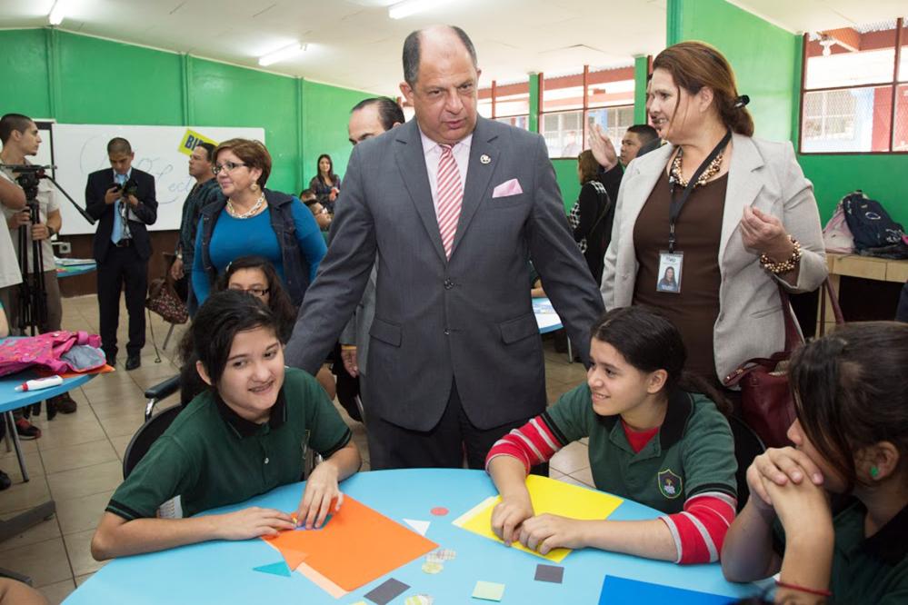 President Luis Guillermo Solís, School year 2015