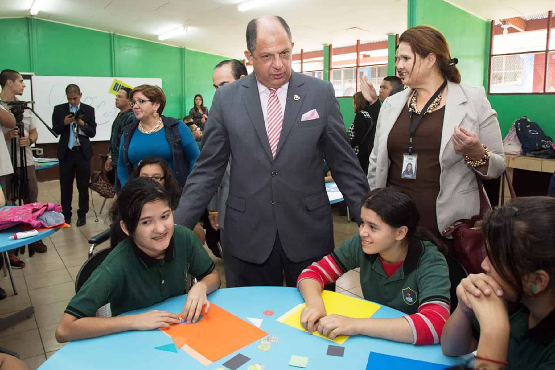 President Luis Guillermo Solís, School year 2015