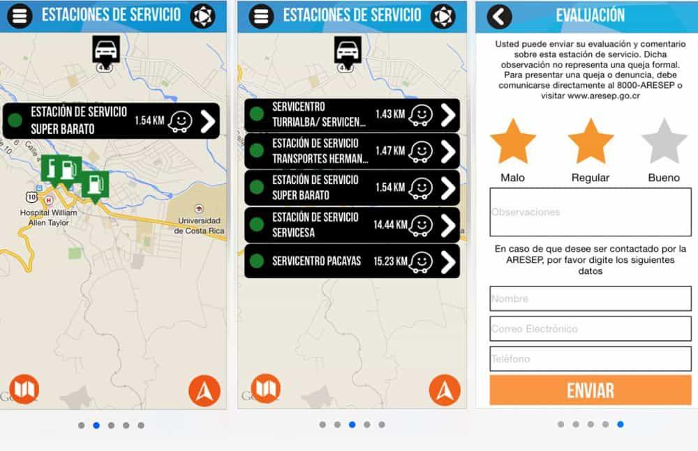 EstacionesCR - ARESEP app