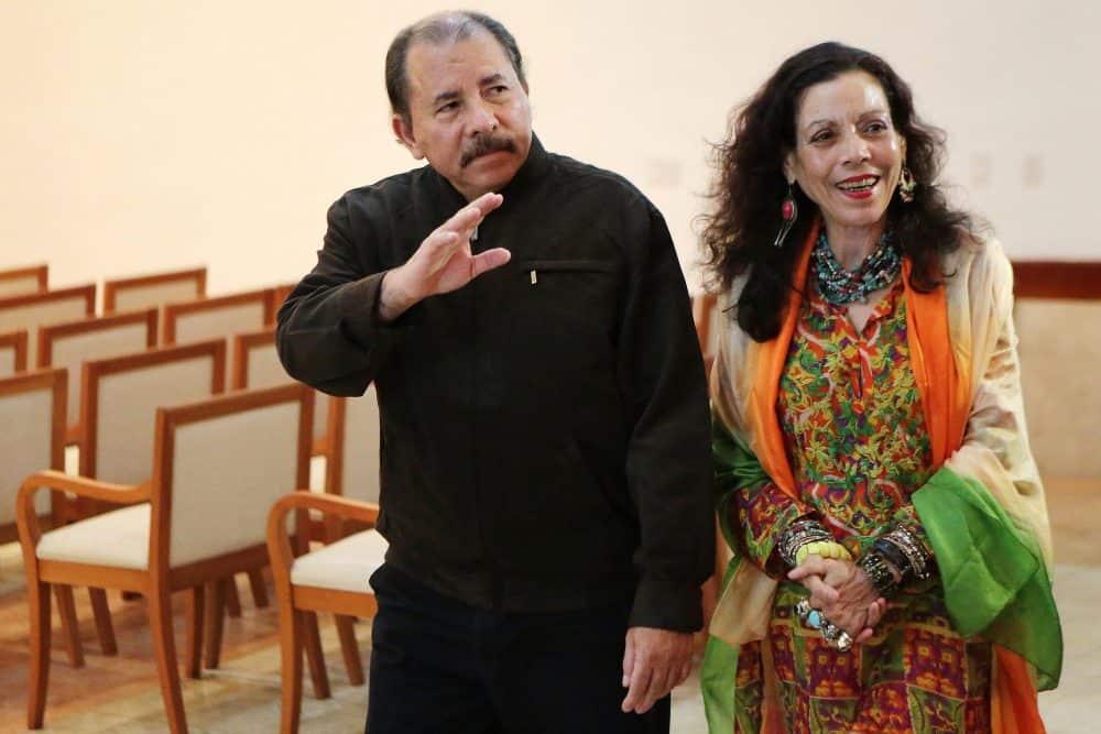 Nicaraguan President Daniel Ortega and first lady Rosario Murillo.