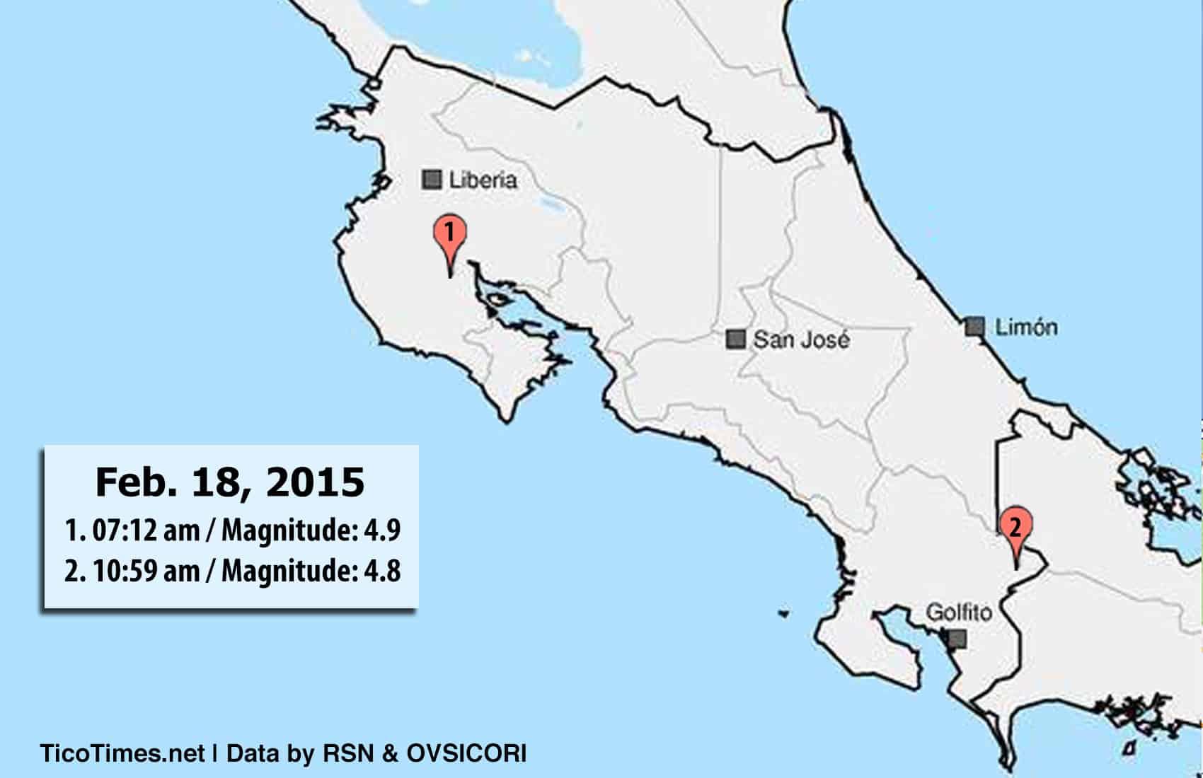 Quakes Feb. 18, 2015