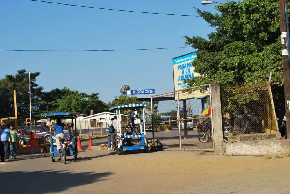 The border crossing at Tecún Uman, Guatemala, Dec. 30, 2011