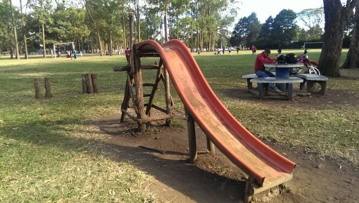 photo wooden slide