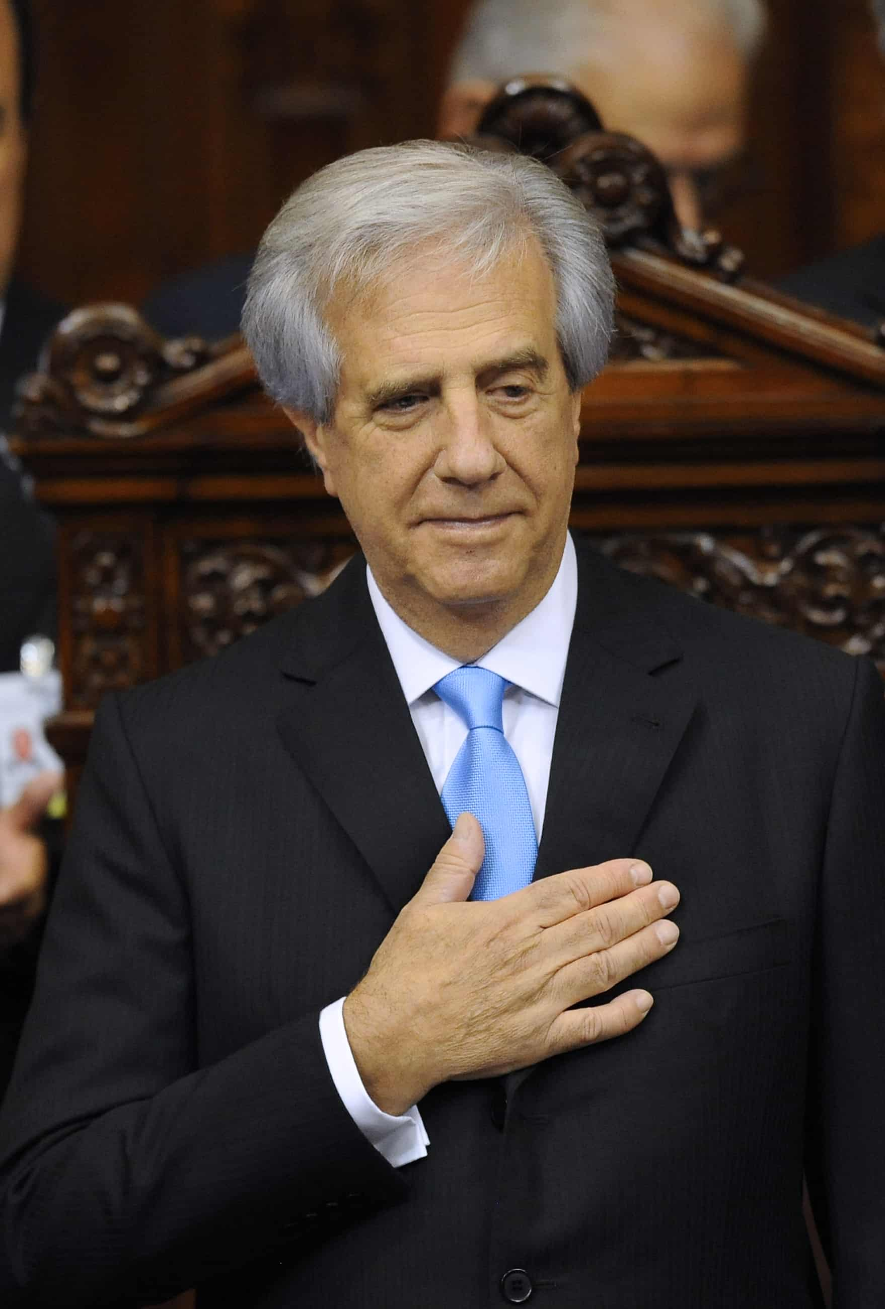 Newly sworn-in Uruguayan President Tabaré Vázquez is seen at the Congress in Montevideo on March 1, 2015.